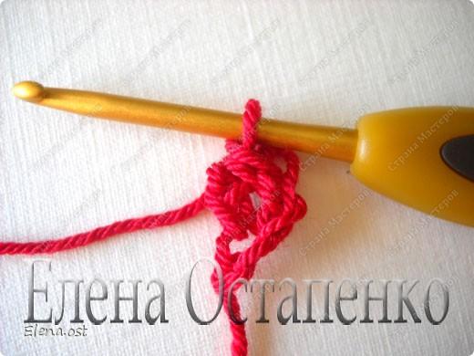 Мастер-класс Вязание, Вязание крючком: Эластичный наборный край крючком Пряжа. Фото 25