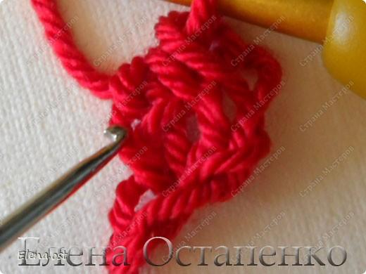 Мастер-класс Вязание, Вязание крючком: Эластичный наборный край крючком Пряжа. Фото 27