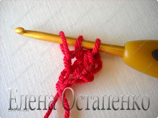 Мастер-класс Вязание, Вязание крючком: Эластичный наборный край крючком Пряжа. Фото 28