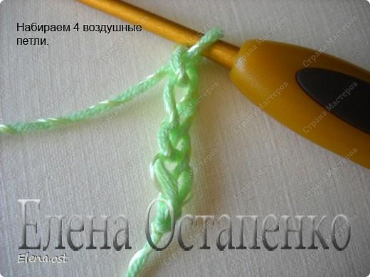 Мастер-класс Вязание, Вязание крючком: Эластичный наборный край крючком Пряжа. Фото 31