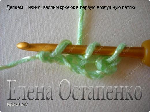 Мастер-класс Вязание, Вязание крючком: Эластичный наборный край крючком Пряжа. Фото 32