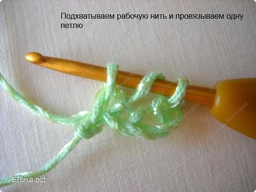 Мастер-класс Вязание, Вязание крючком: Эластичный наборный край крючком Пряжа. Фото 33