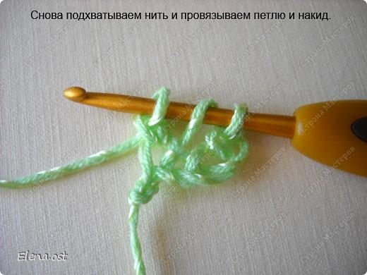 Мастер-класс Вязание, Вязание крючком: Эластичный наборный край крючком Пряжа. Фото 34
