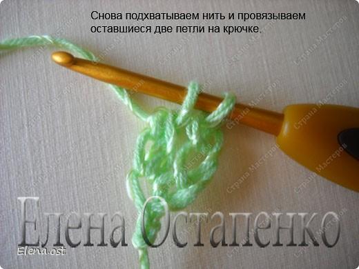 Мастер-класс Вязание, Вязание крючком: Эластичный наборный край крючком Пряжа. Фото 35
