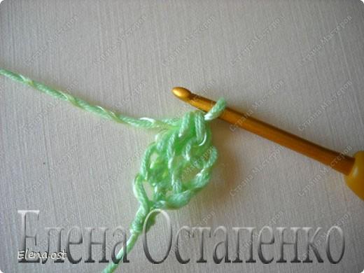 Мастер-класс Вязание, Вязание крючком: Эластичный наборный край крючком Пряжа. Фото 36
