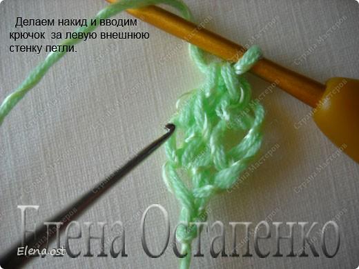 Мастер-класс Вязание, Вязание крючком: Эластичный наборный край крючком Пряжа. Фото 37