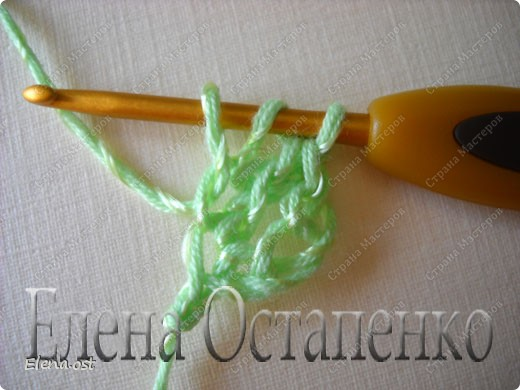 Мастер-класс Вязание, Вязание крючком: Эластичный наборный край крючком Пряжа. Фото 38