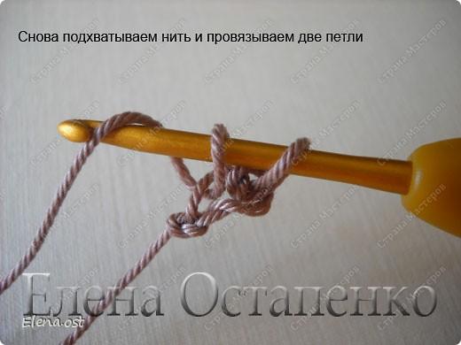 Мастер-класс Вязание, Вязание крючком: Эластичный наборный край крючком Пряжа. Фото 5