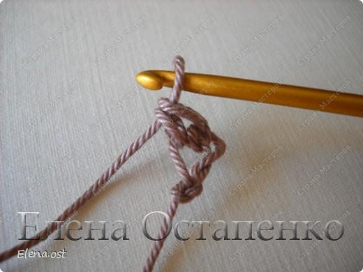 Мастер-класс Вязание, Вязание крючком: Эластичный наборный край крючком Пряжа. Фото 6