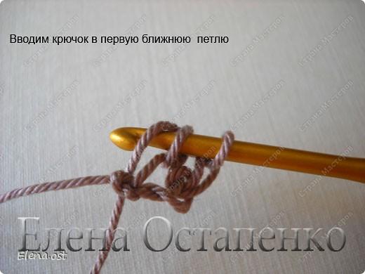 Мастер-класс Вязание, Вязание крючком: Эластичный наборный край крючком Пряжа. Фото 7