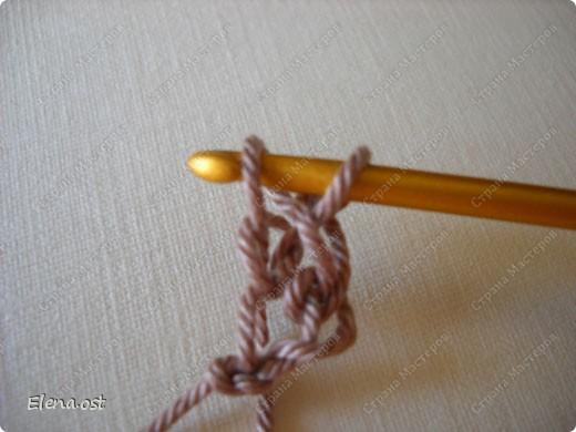Мастер-класс Вязание, Вязание крючком: Эластичный наборный край крючком Пряжа. Фото 8