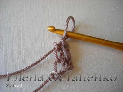 Мастер-класс Вязание, Вязание крючком: Эластичный наборный край крючком Пряжа. Фото 9
