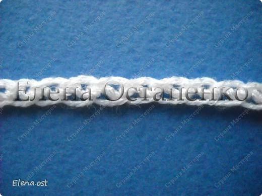 Мастер-класс Вязание, Вязание крючком: Эластичный наборный край крючком Пряжа. Фото 44