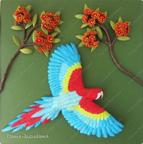 Квиллинг: Полет попугая и