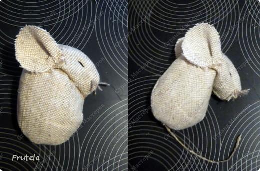 Мастер-класс Шитьё: Спит мышонок сладко-сладко Краска, Кружево, Мешковина. Фото 13