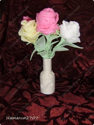 Ваза для розы своими руками 779