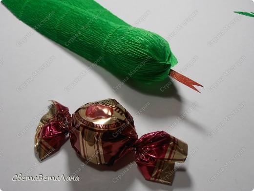 Мастер-класс, Свит-дизайн Бумагопластика: Змейка - презент за 15 минут................. Бумага гофрированная Новый год. Фото 11