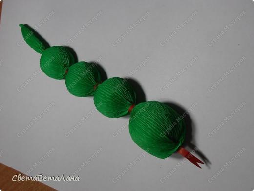Мастер-класс, Свит-дизайн Бумагопластика: Змейка - презент за 15 минут................. Бумага гофрированная Новый год. Фото 16
