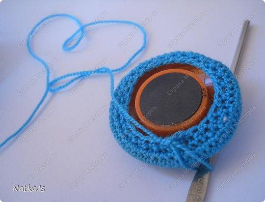 Мастер-класс Вязание крючком: Обвязываем магнит Магниты Новый год. Фото 7