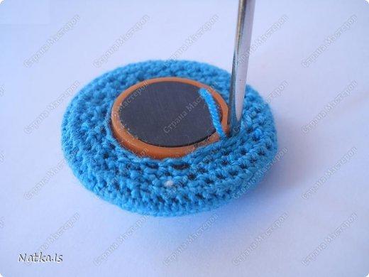Мастер-класс Вязание крючком: Обвязываем магнит Магниты Новый год. Фото 9