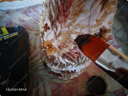 Декор предметов, Мастер-класс Декупаж: МК вазочка (ТЕРРА) Бутылки стеклянные, Краска, Материал природный, Салфетки. Фото 20