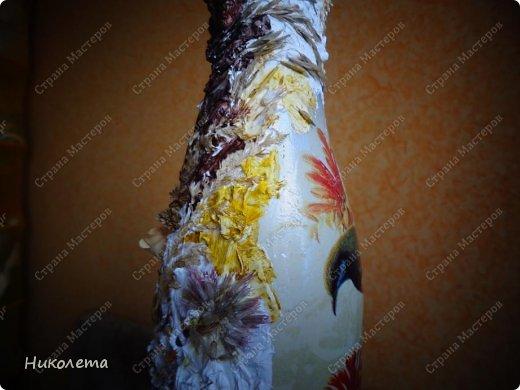 Декор предметов, Мастер-класс Декупаж: МК вазочка (ТЕРРА) Бутылки стеклянные, Краска, Материал природный, Салфетки. Фото 21