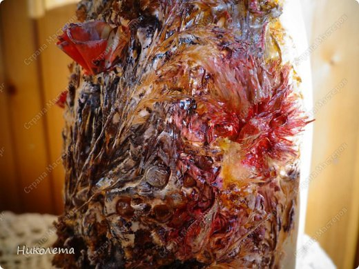Декор предметов, Мастер-класс Декупаж: МК вазочка (ТЕРРА) Бутылки стеклянные, Краска, Материал природный, Салфетки. Фото 35