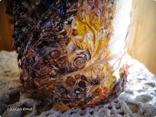 Декор предметов, Мастер-класс Декупаж: МК вазочка (ТЕРРА) Бутылки стеклянные, Краска, Материал природный, Салфетки. Фото 36