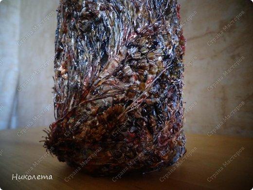 Декор предметов, Мастер-класс Декупаж: МК вазочка (ТЕРРА) Бутылки стеклянные, Краска, Материал природный, Салфетки. Фото 40