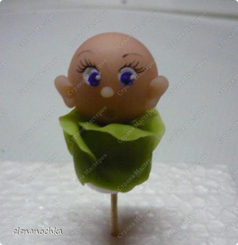"""Мастер-класс Лепка: """"Меня нашли в капусте..."""" (Холодный фарфор).МК. Фарфор холодный День рождения. Фото 13"""
