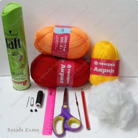 Мастер-класс Вязание крючком: Солнышко Пряжа. Фото 3