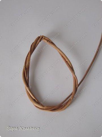 Декор предметов, Мастер-класс Плетение: Пасхальный декор (рамка для писанки) Материал природный Пасха. Фото 6
