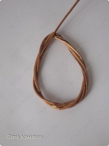 Декор предметов, Мастер-класс Плетение: Пасхальный декор (рамка для писанки) Материал природный Пасха. Фото 7