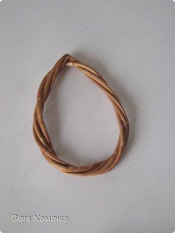 Декор предметов, Мастер-класс Плетение: Пасхальный декор (рамка для писанки) Материал природный Пасха. Фото 8