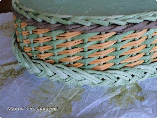 Поделка, изделие Декупаж, Плетение: Раз шкатулка... два шкатулка ... Бумага газетная, Картон, Трубочки бумажные. Фото 11