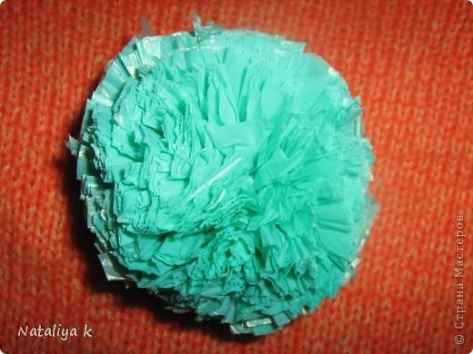 ...МК Игрушка-помпон из мусорных пакетов.  Материал бросовый, Полиэтилен...