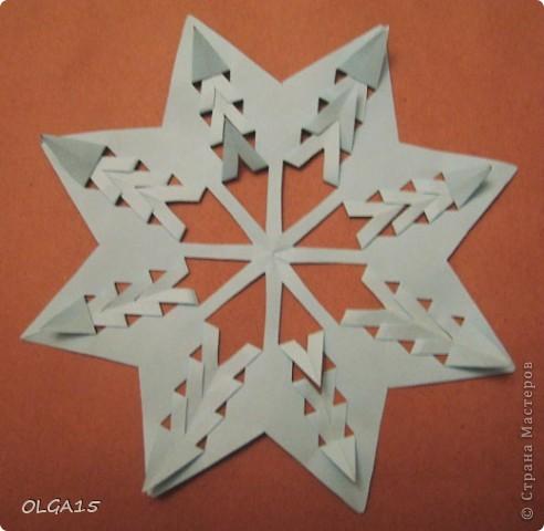 Мастер-класс Вырезание: Снежинки из кругов Бумага Новый год. Фото 7