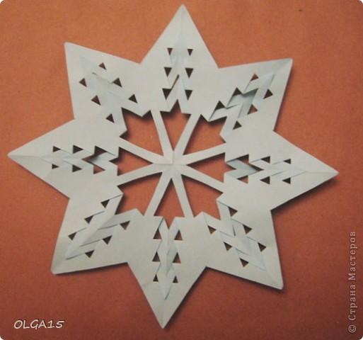 Мастер-класс Вырезание: Снежинки из кругов Бумага Новый год. Фото 8