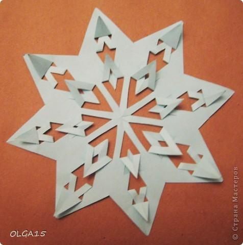 Мастер-класс Вырезание: Снежинки из кругов Бумага Новый год. Фото 9