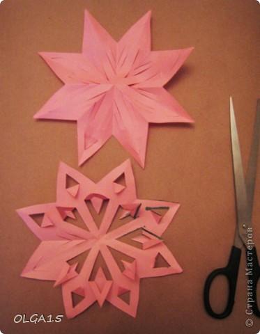 Мастер-класс Вырезание: Снежинки из кругов Бумага Новый год. Фото 28
