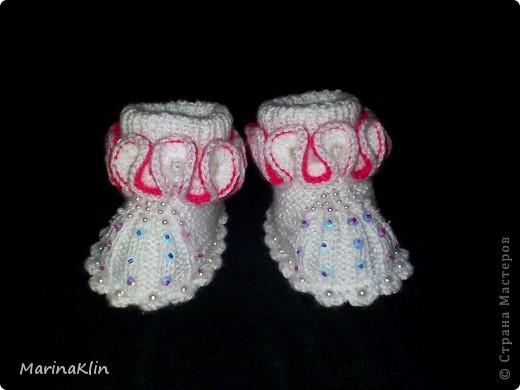 Мастер-класс Вязание: МК пинетки для девочки Пряжа. Фото 24