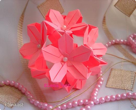 """Оригами: Кусудама """"Сакура"""""""