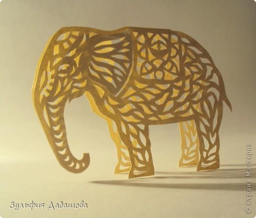 Мастер-класс Вырезание, Вырезание силуэтное: МК Ажурный слоник Бумага. Фото 1