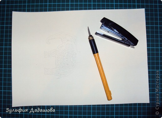 Мастер-класс Вырезание, Вырезание силуэтное: МК Ажурный слоник Бумага. Фото 2