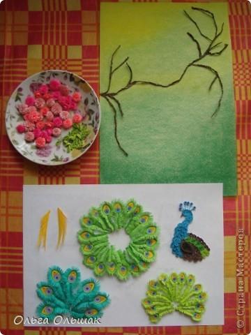 Картина, панно, Мастер-класс Квиллинг: Царская птица + mini МК. Бумага, Пастель, Бумажные полосы День рождения. Фото 11