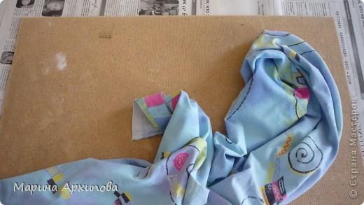 Мастер-класс Коллаж: Панно из ткани Материал бросовый Начало учебного года. Фото 3