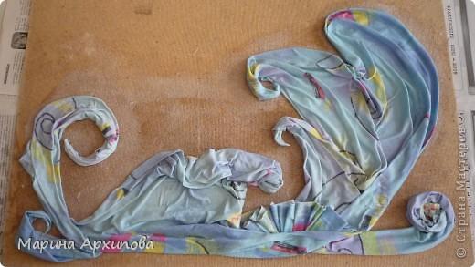 Мастер-класс Коллаж: Панно из ткани Материал бросовый Начало учебного года. Фото 9