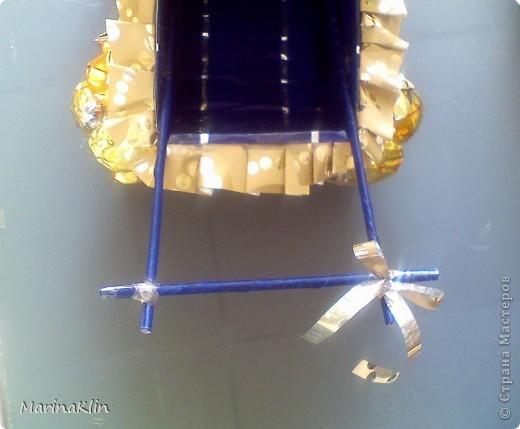 Мастер-класс, Свит-дизайн,  Моделирование, : Коляска из конфет Бумага, Бусинки, Картон, Скотч День рождения, . Фото 17