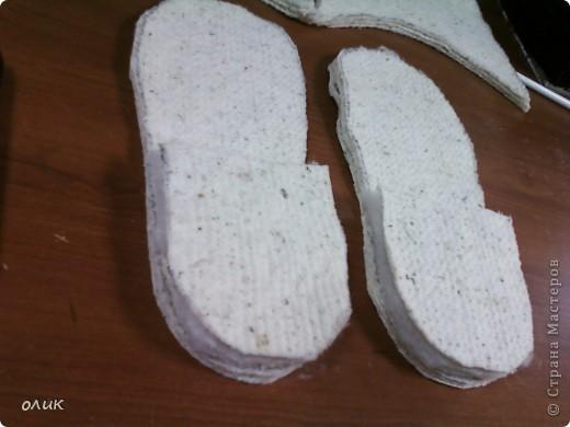 Мастер-класс,  Шитьё, : Домашние тапочки для себя и для гостей. Кожа, Мех, Ткань . Фото 4