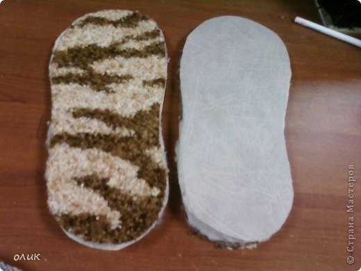Мастер-класс,  Шитьё, : Домашние тапочки для себя и для гостей. Кожа, Мех, Ткань . Фото 5